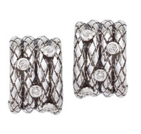 18Kt/Sterling Silver Traversa Four Earring With .08 Ct Tw Dia