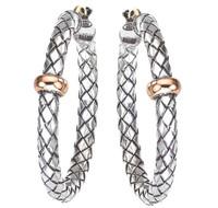 Sterling Silver Traversa Hoop Earrings