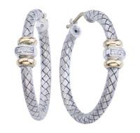 Large Traversa Round Hoop Earrings