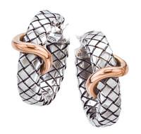 Sterling Silver Flat Traversa Hoop Earring