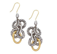 18Kt/Sterling Silver Traversa Dangling Earring