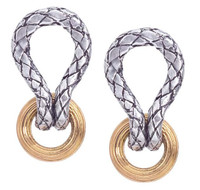 18Kt/Sterling Silver Traversa Looped Earring