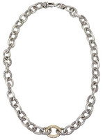 18Kt/Sterling Silver Link Necklace