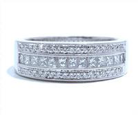 7 mm Diamond Ring In 18k White Gold