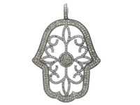 2.58 ct Diamond Hamsa-Shaped Pendant