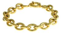 Herco Bracelets 14KT Yellow Oval Link 10.5mm 14ALBR100Y8