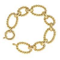 Herco Bracelets 14KT Yellow Bracelet Twist Links 14ALBR115Y8