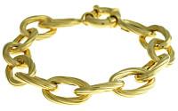 Herco Bracelets 14KT Yellow Oval Link 10.5mm
