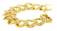 Herco Bracelets 14KY Double Link Polished 27mm 14ALBR56Y8