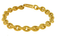 Herco Bracelets 14KT Yellow Textured 7.1mm 14GLBR1Y8