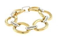 Herco Bracelets 14KT White & Yellow Link Blank 14SPBR2WY75