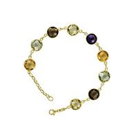 Herco Bracelets 14KT Yellow Multi-Color Stones 14VABR6Y8