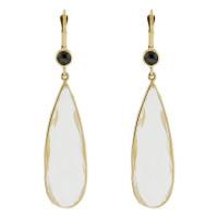 Herco Earrings 14KTY Earring Quartz & B. Diamond 14VAEA69Y