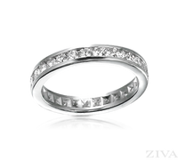 Ziva Channel Set Diamond Eternity Ring