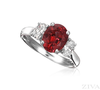 Ziva Ruby 3-Stone Ring