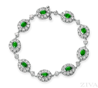 Ziva Fancy Emerald Bracelet