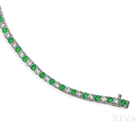 Ziva Emerald & Diamond Bracelet