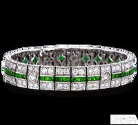 Ziva Art Deco Emerald Bracelet