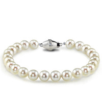"Imperial 7"" Crown Akoya Cultured Pearl Bracelet 80CCRN/WH07"