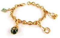 Gucci Charm Bracelet Gold L. 18 cm