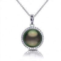 Imperial Tahitian Pearl WG Diamond Pendant 986930/BWH18-1