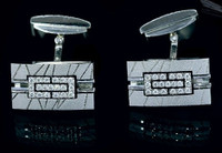 "Mousson Atelier Mens Jewellery ""Scar"" Diamond Cufflinks C0001-0/8"