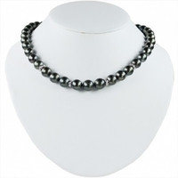 Imperial Tahitian Pearl Necklace With Diamond Roundels CSWN002/B
