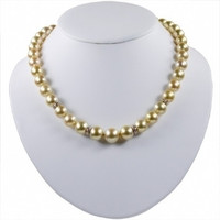 Imperial Golden South Sea Pearl Necklace CSYN001/GSS