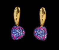 Mousson Atelier Riviera Gold Sapphire Earrings E0040-0/14