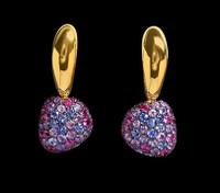 Mousson Atelier Riviera Gold Sapphire Earrings E0040-1/4