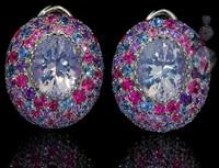 Mousson Atelier Riviera Gold Lavender Quartz Earrings E0040-2/15