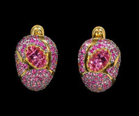Mousson Atelier Riviera Gold Pink Tourmaline Earrings E0072-3/9