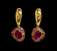 Mousson Atelier Riviera Gold Tourmaline Earrings E0072-4/12