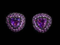 Mousson Atelier Riviera Gold Amethyst Earrings E0073-2/5