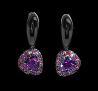 Mousson Atelier Riviera Gold Amethyst Earrings E0073-4/2