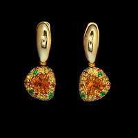 Mousson Atelier Riviera Gold Citrine Earrings E0073-4/4