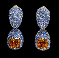 Mousson Atelier Riviera Gold Citrine Earrings E0074-1/3