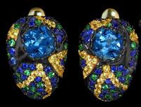 Mousson Atelier Riviera Gold London Topaz Earrings E0074-3/21