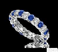 Ziva Sapphire & Diamond Eternity Ring