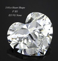 3.01 Carat F/SI1 Heart Cut Diamond (GIA Certified)