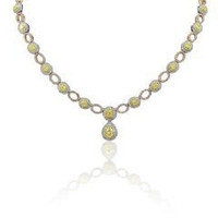9.49 Ct Fancy Diamond Necklace