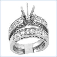 Gregorio Platinum Diamond Engagement Ring & Band R-117