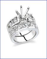Gregorio 18K WG Diamond Engagement Ring Set R-312