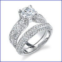 Gregorio 18K WG Diamond Engagement Ring Set R-343-1