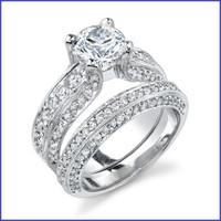 Gregorio 18K WG Diamond Engagement Ring Set R-343-1