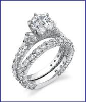 Gregorio 18K WG Diamond Engagement Ring Set R-383E-1