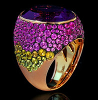 Mousson Atelier Riviera Gold Amethyst Ring R0040-2/26