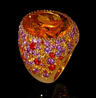 Mousson Atelier Riviera Gold Citrine Ring R0040-2/6