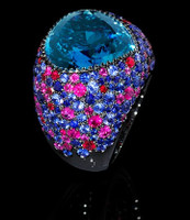 Mousson Atelier Riviera Gold London Topaz Ring R0040-3/11