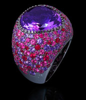 Mousson Atelier Riviera Gold Amethyst Ring R0040-3/13